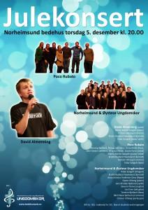 Julekonsert 13 plakat